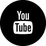 Youtube icon in black and white