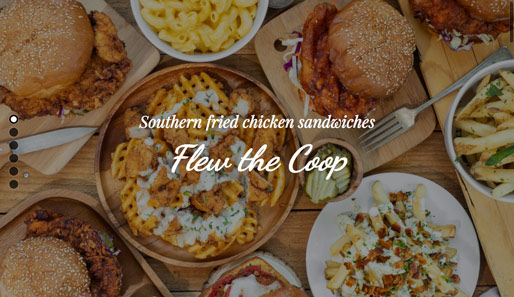 Flew the Coop, southern fried chicken sandwiches