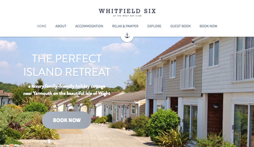 Whitfield Six at The West Bay Club - Boutique Isle of Wight holiday cottage
