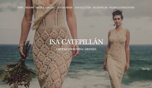 Isa Catepillán Crochet Wedding Dresses