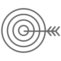 Target icon: vision, personal fulfillment